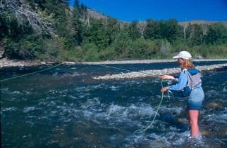 Sun Valley flyfishing on the Big Wood River