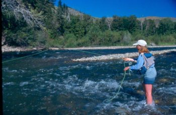 Big Wood flyfishing Ketchum, Idaho